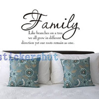 family quote wall decal  family like branches on a tree wall decals quote vinyl  family decal stickers