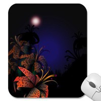 Midnight Lillies mousepad from Zazzle.com