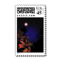 Midnight Lillies postage stamp from Zazzle.com