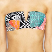 Raisins A Day In The Life Tropics Bandeau Bikini Top