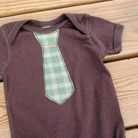 Plaid Tie Bodysuit by BlinkBaby on Etsy