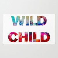WILD CHILD Area & Throw Rug by Good Sense | Society6