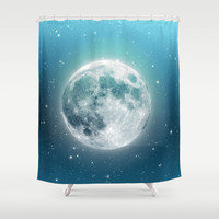 Luna Shower Curtain by Good Sense | Society6