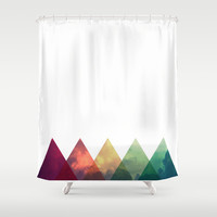 Tri-Sky Shower Curtain by Good Sense | Society6