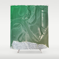 Green Shower Curtain by Good Sense | Society6