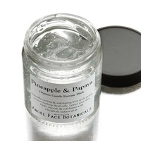 Pineapple and Papaya Exfoliating Enzyme Mask - Cooling - Hydrating - Renewing Organic Facial Care for All Skin Types 4 oz