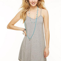 Hanky Hem Tunic Dress - Gray