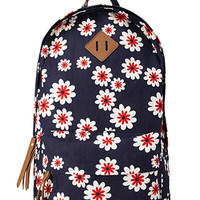 Sweet Floral Canvas Backpack
