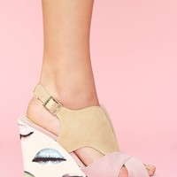 Lipstick Jungle Platform Wedge in  Shoes at Nasty Gal