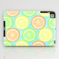 Citrus Wheels (Aqua) iPad Case by Lisa Argyropoulos | Society6