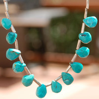 Sterling Silver and High grade Natural Turquoise by LizzieLuna