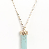 Token Love Turquoise Necklace