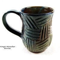 Hanemade Coffee mug Beer Stein pottery coffee by Ningswonderworld