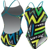 Nike Women's POW! Cut-Out Back Tank Swimsuit