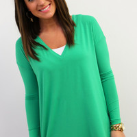 Green V-Neck Piko