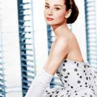 FUNNY FACE, Audrey Hepburn, (in a Givenchy evening gown), 1957 Premium Poster at Art.com