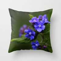 Omphalodes verna - JUSTART © Throw Pillow by JUSTART  * Syl *