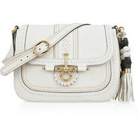 Gucci | Embellished leather shoulder bag | NET-A-PORTER.COM