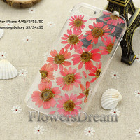 Pressed Flower iPhone 5 case, iPhone 5s case, iPhone 5c case, iPhone 4s case,iPhone 4 case, Galaxy S4 case, Galaxy S3 case, Real Flowers-005