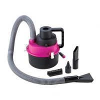 Portable Wet & Dry Auto Vacuum Cleaner Pink/Black