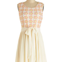 Darling Mid-length Sleeveless A-line Flowers for the Finale Dress