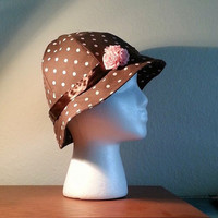 Cloche Hat, Derby Hat, Chemo Hat, Flapper Hat, Polka Dot Hat, Summer Hat, Woman's Hat, Ladies Hat