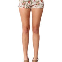 Papaya Clothing Online :: FLORAL PRINT SHORTS /W BELT