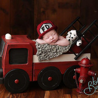 Firetruck Photo Prop, Photo Prop, Newborn Photography Prop, Newborn Prop, Fire Truck Prop