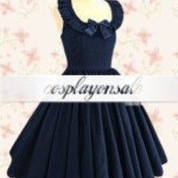 Jewel Neck Ruffles Cotton Classic Lolita Dress [T110207] - $73.00 : Cosplay, Cosplay Costumes, Lolita Dress, Sweet Lolita