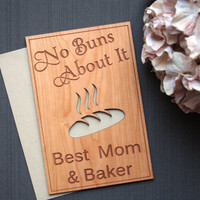 Mother's Day Gifts - Wooden Mother Day Card - Best Cook - Grandmother's Cards