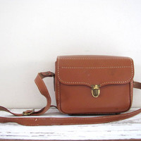 vintage Kam-Ra 619 camera bag // Cowhide Leather // brown leather Camera Case