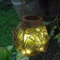 Rustic Outdoor Firefly Lantern Woodland Garden Wedding | BriannaPaigeDesigns - Wedding on ArtFire
