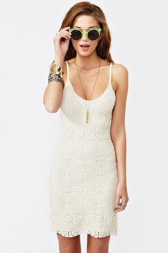 Aurora Lace Dress - Ivory in  Clothes Dresses at Nasty Gal