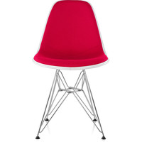 eames® molded side chair upholstered wire base