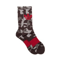 Mens adidas Camo Crew Socks Single Pair