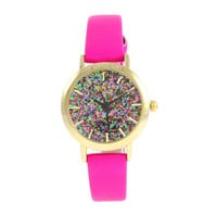 Pink Paris Glitter Watch - Limited Edition
