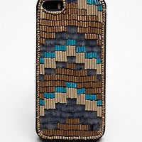 Free People Womens Beaded iPhone 5/5s Case - Pink Combo, iPhone 5/5s