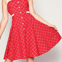 Retro Ketchup Picnic Dress | PLASTICLAND