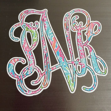 Lilly Pulitzer Vine Monogram Decal - Let's Cha Cha