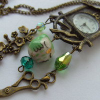 Cuckoo Clock Vintage Necklace