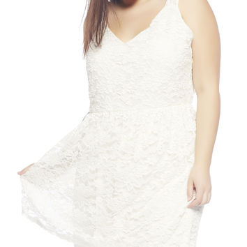 Lace V-Neck Tank Dress | Wet Seal +