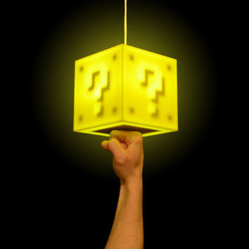 Interactive 8bit Question Block Lamp by 8BitLit on Etsy