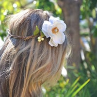 Flower Crown Bridal Crown Wedding Headpiece by ShepherdoftheSea