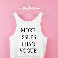 More Issue Than Vogue Crop Tank Top