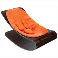 bloom - Coco Stylewood Cappuccino Baby Lounger in Harvest Orange | All Modern