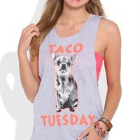 Tank Top with Twist Back and Taco Tuesday Screen