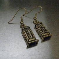 Doctor Who TARDIS Whovian Earrings by urbanindustries on Etsy