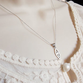 Fish cross sterling silver necklace  Ichthys  necklace   sterling silver christian necklace  silver fish  silver cross silver necklace