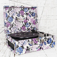 Crosley Keepsake Turntable in Blue Floral UK Plug - Urban Outfitters