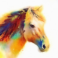 The Spirited - Horse Art Print by Jacqueline Maldonado | Society6